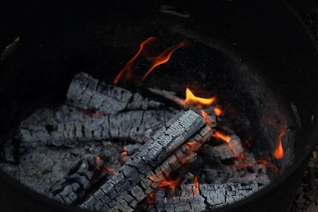 nice coals with very little flame