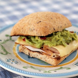 Camping Recipe: Simple Turkey, Swiss & Guacamole Toasted Sandwich
