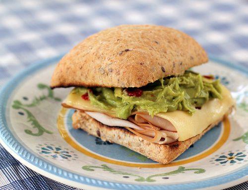 Camping Recipe: Simple Turkey, Swiss & Guacamole Toasted Sandwich