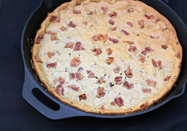 Bacon Chocolate Chip Skillet Cookie