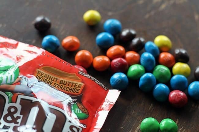 pack of bright-colored M&M's