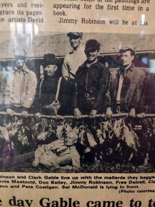 old photo at Jimmy Robinson's Duck Lodge