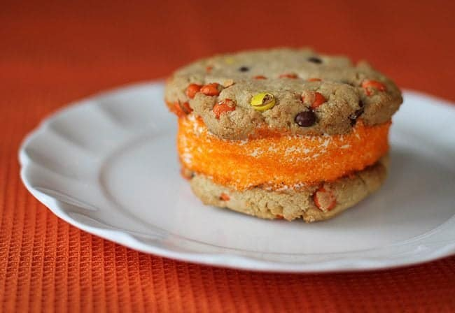 PB Halloween Ice Cream Sandwich Cookies