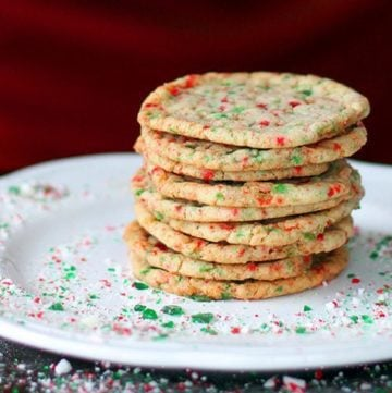 Crispy,Buttery Candy Cane Cookies