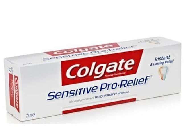 A box of Colgate Sensitive Pro Relief