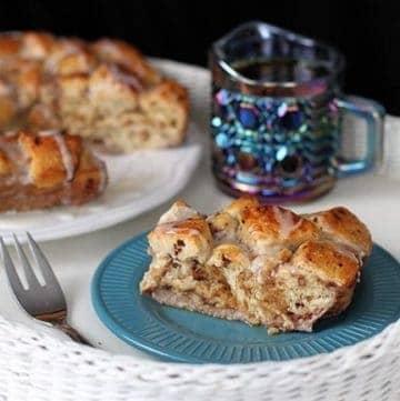 Eggnog Cinnamon Bun Breakfast Bake