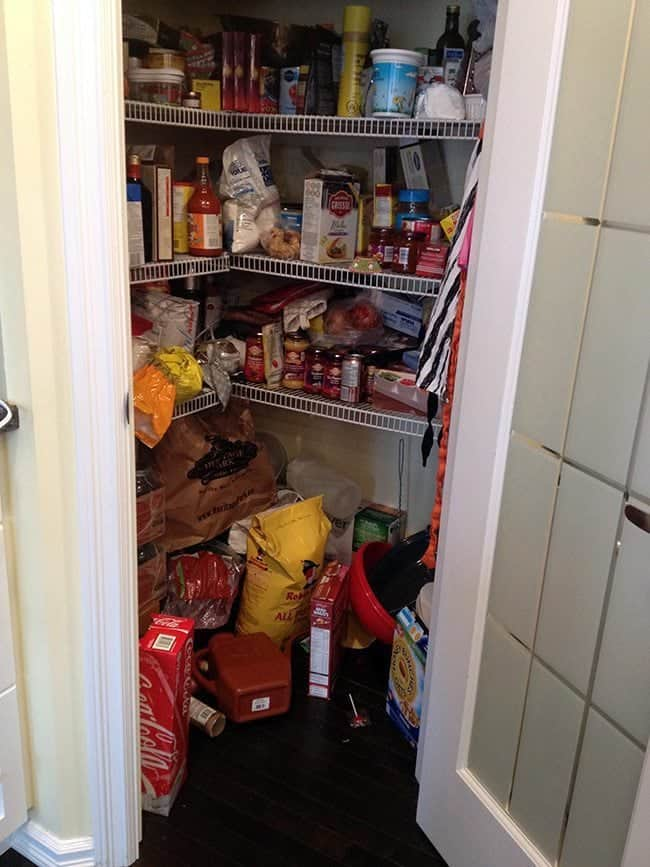 the pantry full of cooking stuffs