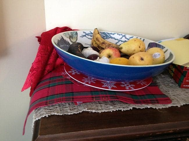 fruit bowl with the prop stuffs