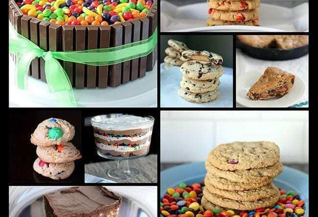 Collage of Leftover Halloween Candy Recipes