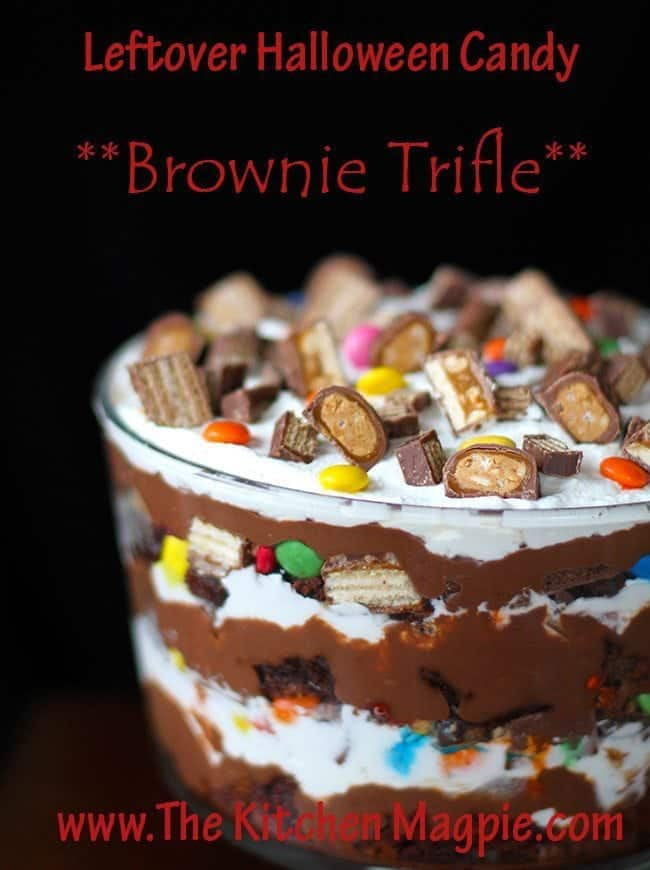 halloweentrifle4-Recovered Leftover Halloween Candy Brownie Trifle