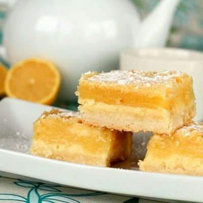 Holiday Lemon Cheesecake Bars