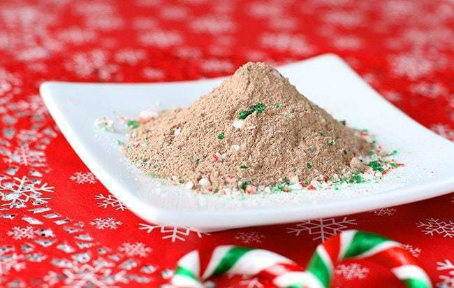 Homemade Mint Hot Chocolate Mix