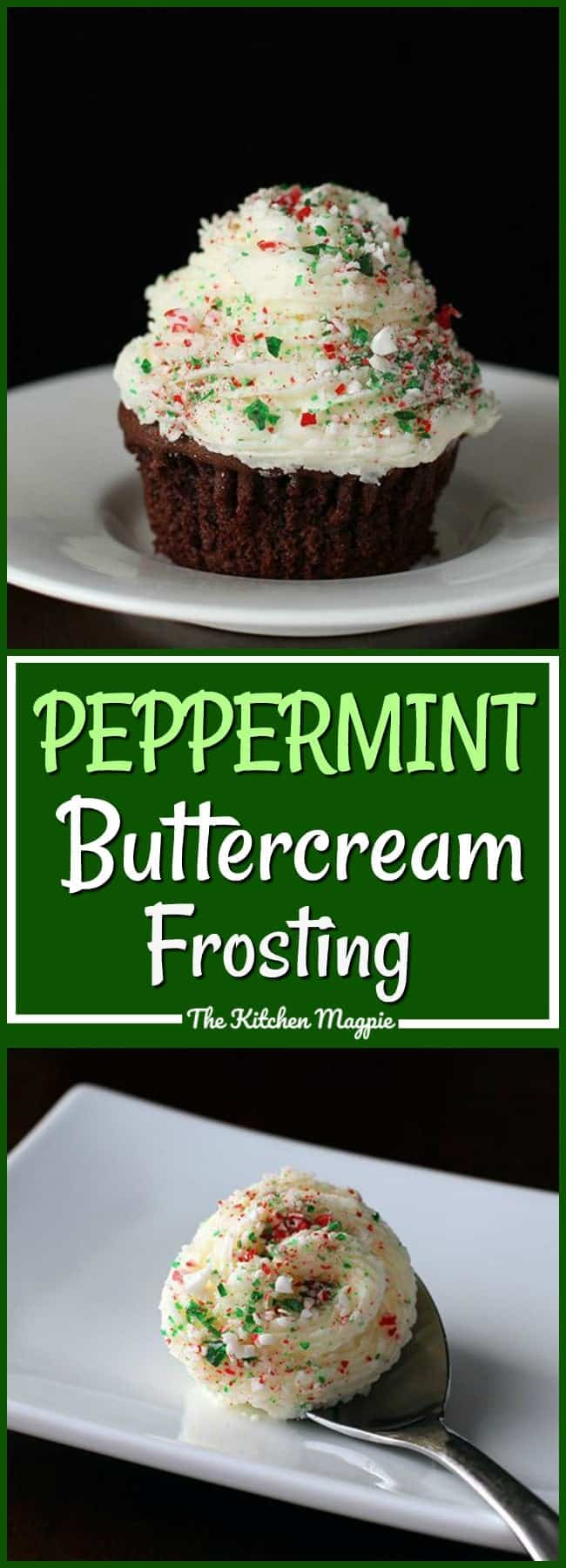 How to make creamy, delicious peppermint buttercream icing, a must have for mint lovers! #frosting #icing #mint