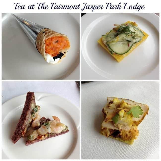 collage of sandwiches at Fairmont Jasper Park Lodge