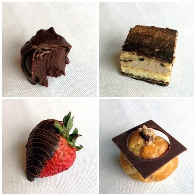 collage of desserts at Fairmont Jasper Park Lodge