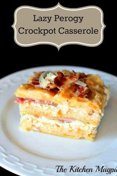 Crockpot Lazy Perogy Casserole