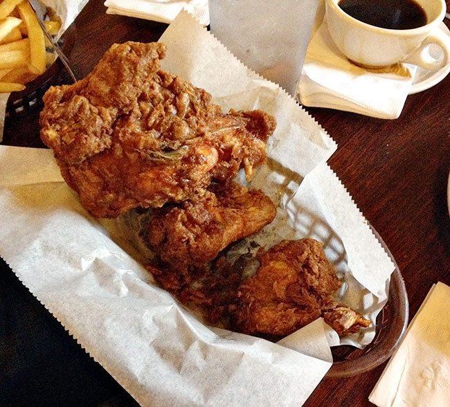 Willy Mae's Scotch HouseFried Chicken with crispy chicken skin