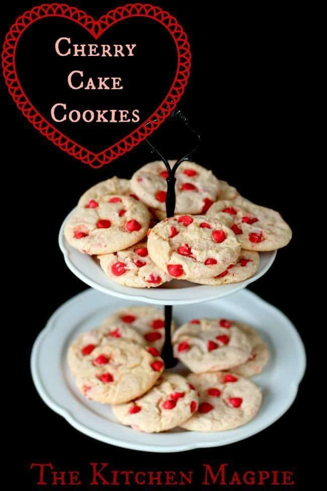 Cherry Cake Mix Cookies from @kitchenmagpie