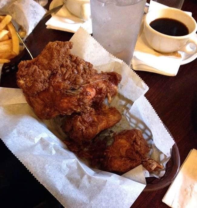 crispy hot chicken at Willy Mae's Restaurant