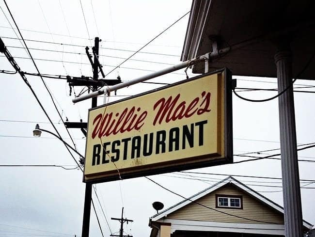 hanging signage of Willie Mae's Restaurant