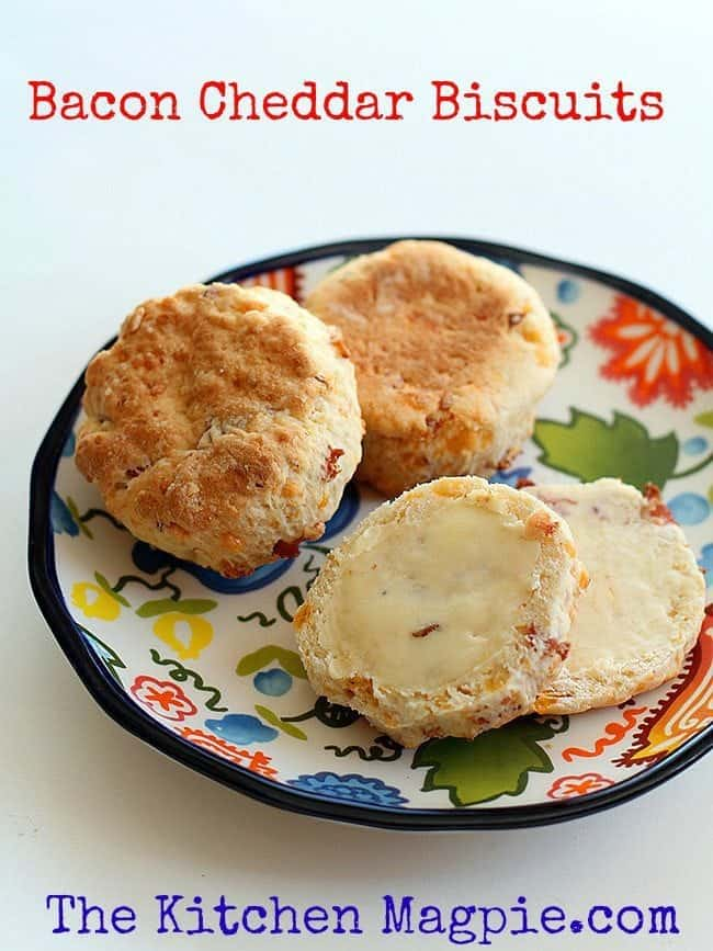 Bacon Cheddar Biscuits - The Kitchen Magpie