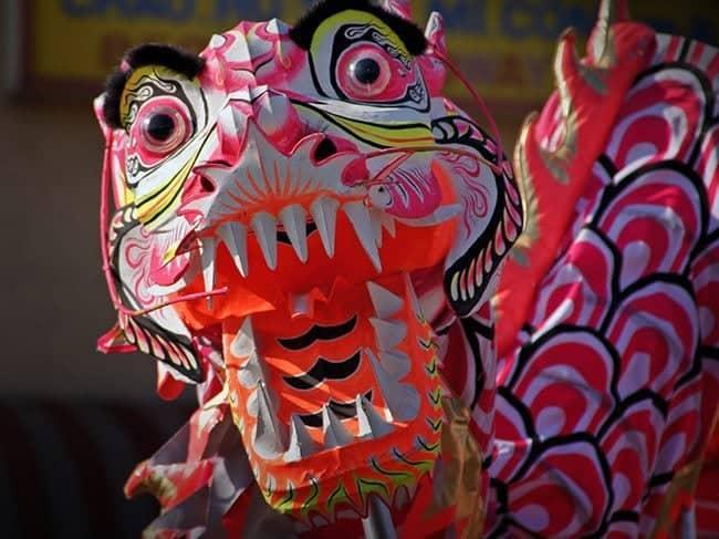 red dragon dance prop