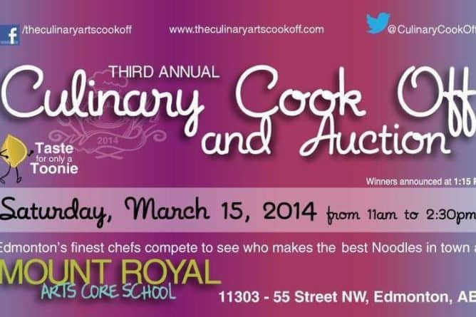 The 2014 Culinary Arts Cook Off and Auction Details