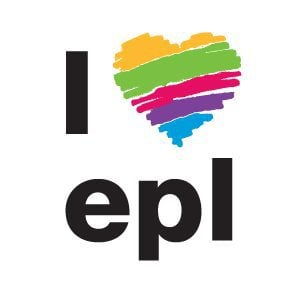 EPL logo with colorful heart