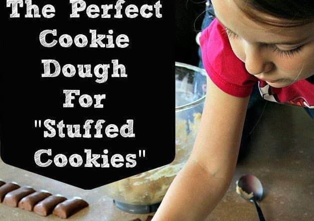 Young Girl Preparing Perfect Cookie Dough for Stuffed Cookie