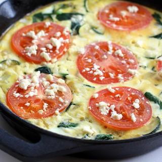 Tomato, Spinach & Feta Frittata