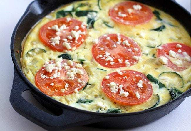 ... Tomato, Spinach & Feta Frittata? That's just how you gotta roll