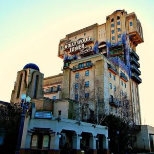 The Hollywood Tower at Walt Disney Studios in Paris, France