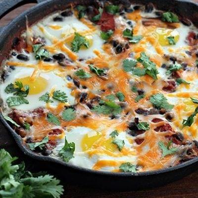 Mexican Bean Breakfast Skillet