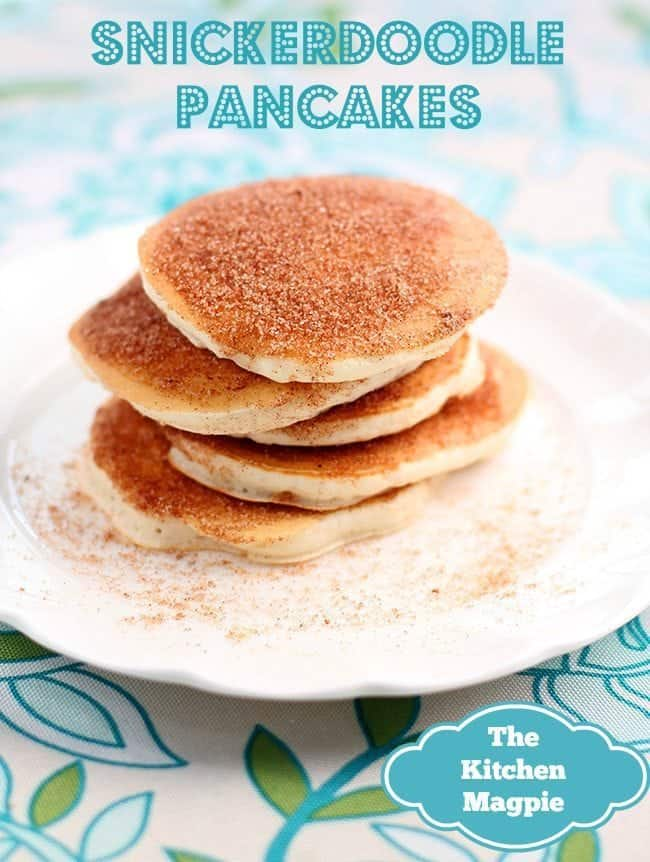 Snickerdoodle Pancakes, tastes like the cookies in a pancake form!  from @kitchenmagpie