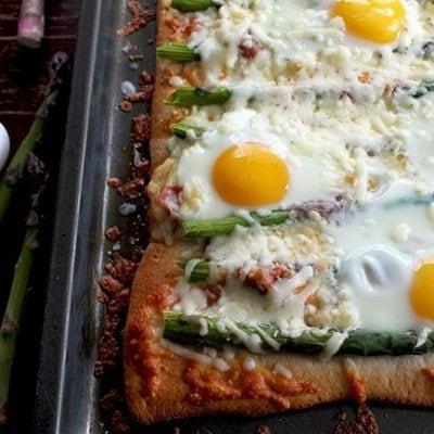 Asparagus, Capicollo & Egg Breakfast Pizza