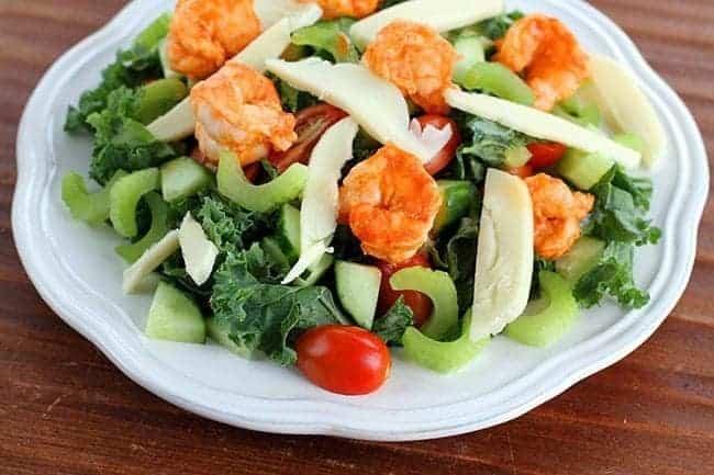 Buffalo Shrimp Kale Salad
