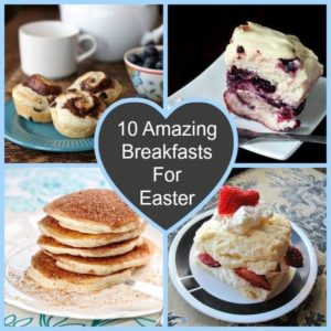 Easter Morning Breakfast Collage
