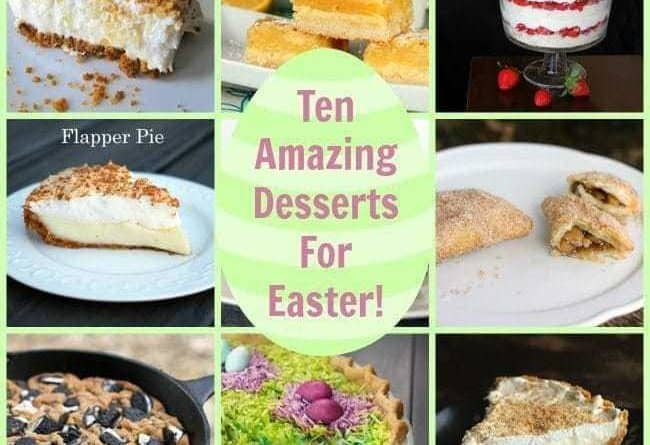 collage of Desserts For Easter