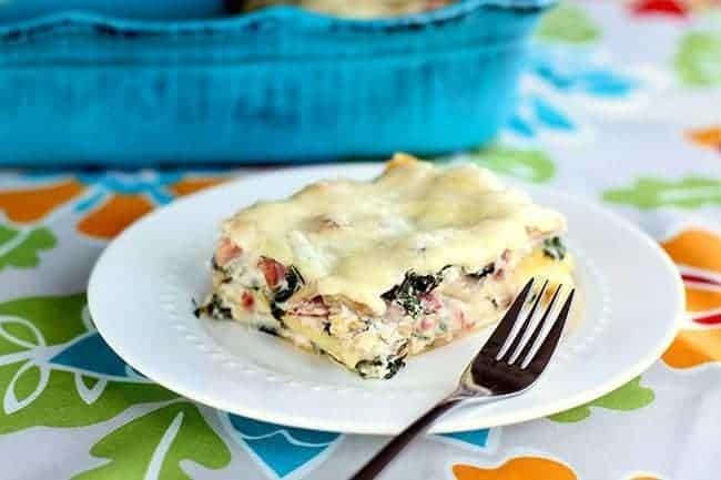 Cheesy Ham & Kale Lasagna