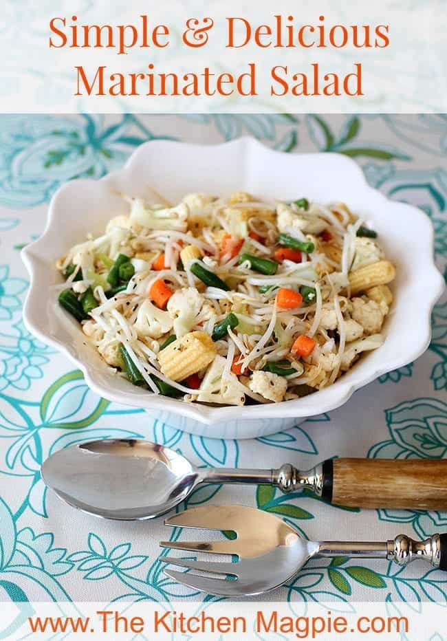 An updated version of the classic marinated vegetable salad that can be adjusted to suite your tastes.#salad #vegetables