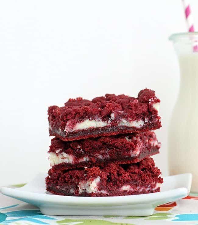 Red Velvet Cake Bars