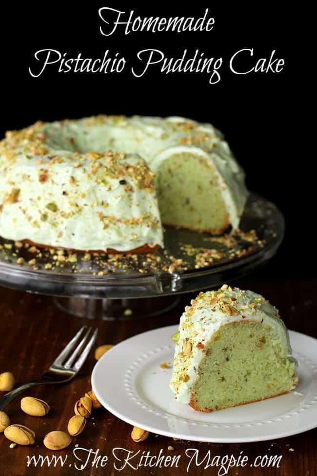 Homemade Pistachio Bundt Cake