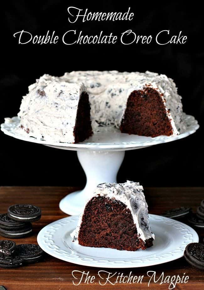 Homemade Double Chocolate Oreo Cake
