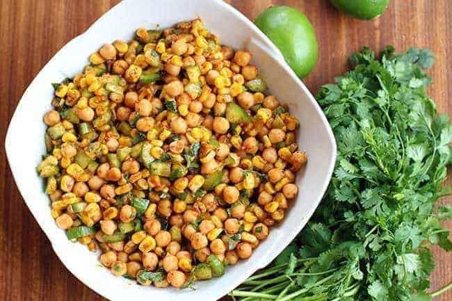 Roasted Corn & Chickpea Salad