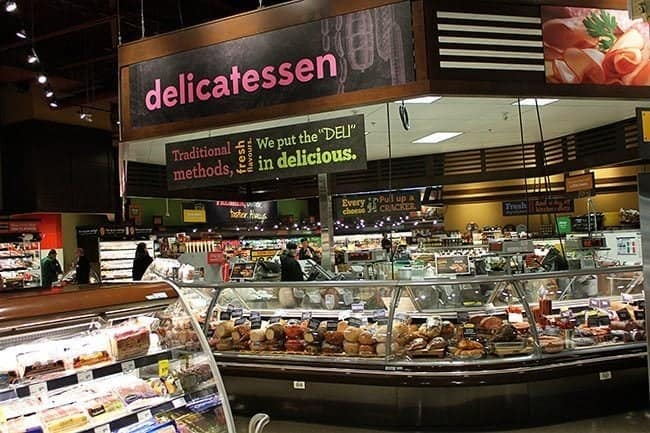 Delicatessen section where every type of meat is available