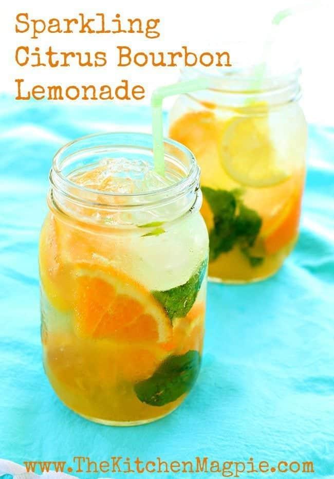How To Make An Amazing Sparkling Citrus Bourbon Lemonade !   www.TheKitchenMagpie.com