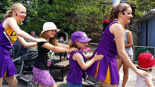 kids having fun joining the dance in the stage show