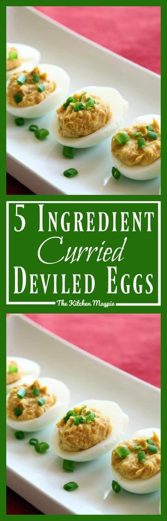Amazingly easy and seriously delicious curried deviled eggs! #deviled #eggs #curry #appetizer