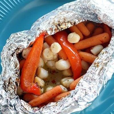 Chili Coconut Scallops Campfire Dinner