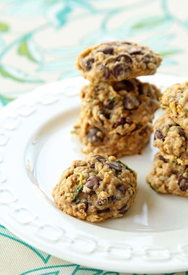 Zucchini Oatmeal Chocolate Chip Cookie Recipe